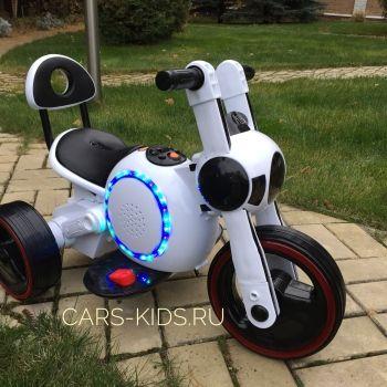 Электромотоцикл Bubble белый (покраска глянец, музыка, свет, бардачок)