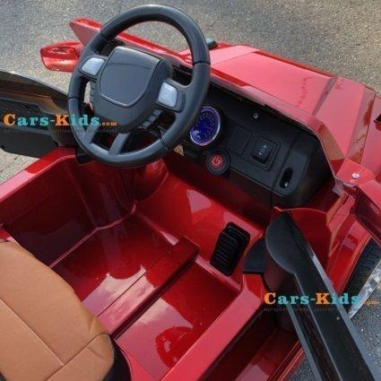 Электромобиль Мерседес Гелик М001МР NEW красный (колеса резина, кресло кожа, пульт, музыка)